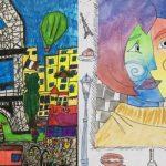 """Izložba đačkih crteža """"Pariz viđen mojim očima"""" @ Francuski institut Novi Sad"""