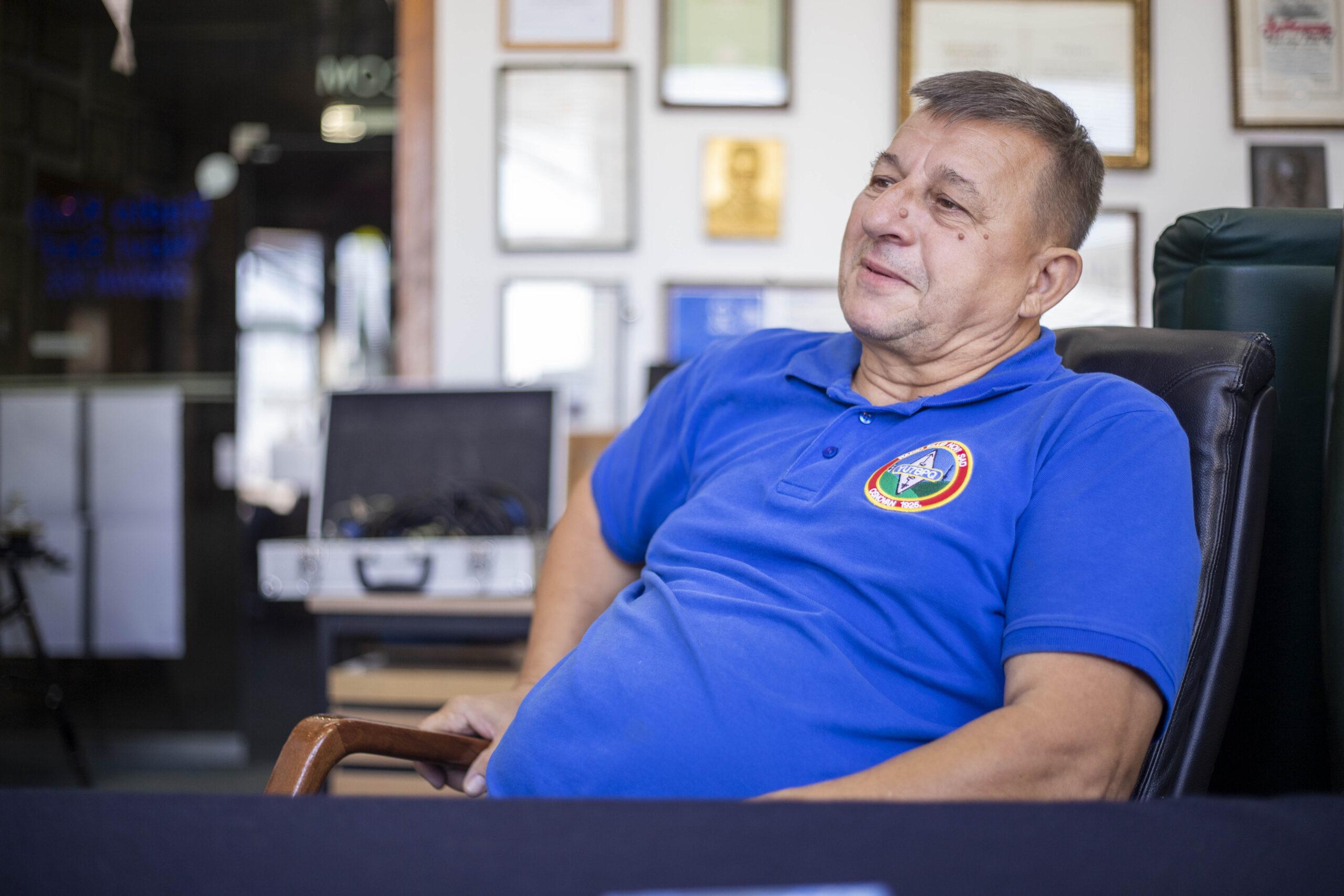 Predsednik Radio kluba Novi Sad Mirko Škrbić